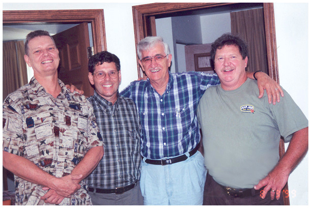 Don Saxton, Mike Rudy, Dad and Al Sharp